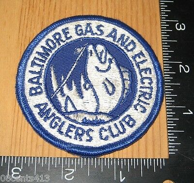 Baltimore Gas and Electric Anglers Club Circle Cloth Patch