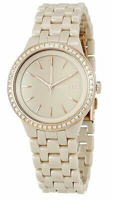 80f9338a004 DKNY Park Slope Crystals Luminous Taupe Dial Ceramic Women s Watch NY2530  SD9