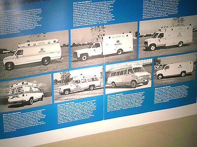 Beau Depliant Ambulances Americaines 1980/ Star Line / Dodge ....