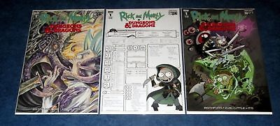 RICK AND MORTY vs DUNGEONS & DRAGONS #1 1:10 variant A/B set 1st print IDW 2018
