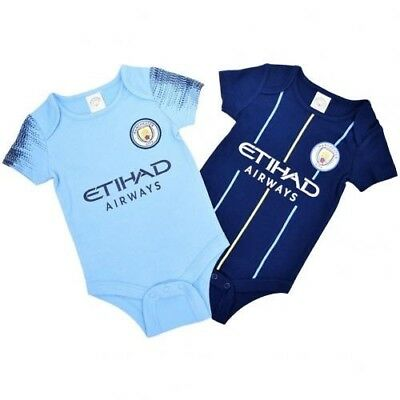 Manchester City Football Club Baby Bodysuit NV Size 0-3 months 2-pack