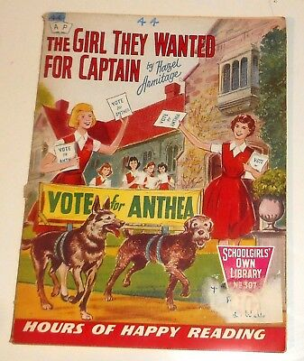 #307 Schoolgirl's Own Library Comics ~ THE GIRL THEY WANTED FOR CAPTAIN ~ 1959