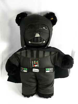 "Star Wars Darth Vader Build a Bear Teddy Bear w Black Cape 18"" Plush Toy"