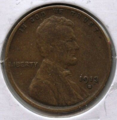 1913-S Lincoln Wheat Cent Penny - San Francisco Mint AT341
