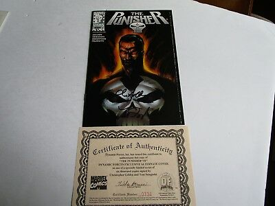 The Punisher # 1 In Near Mint - Signed By Chris Golden & Tom Sniegoski, 334/6000