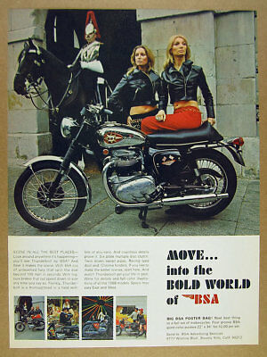 1968 BSA Thunderbolt Motorcycle Color Photo Vintage Print Ad