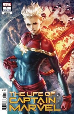 Life Of Captain Marvel #1 2Nd Print Artgerm Variant Origin Danvers Stohl  82918