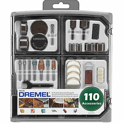 Dremel 110pcs Accessory Kit 26150709AD for Cutting, Grinding, Sanding & Cleaning