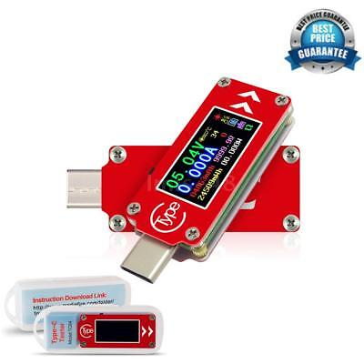 Type-C LCD USB Voltmeter Ammeter Voltage Current Meter Power Bank USB Test A0E6