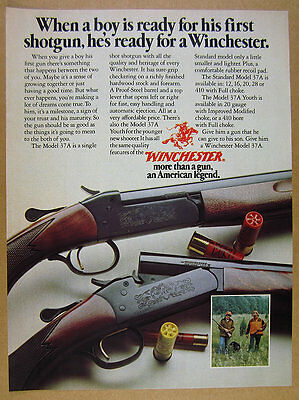 1976 Winchester Model 37A & 37 A Youth Shotgun color photo vintage print Ad