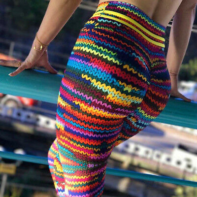 High Waist Yoga Fitness Leggings Running Gym Stretch Sport Pants Trousers WD