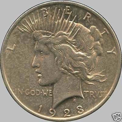 """1923 United States Silver """"Peace"""" Dollar (26.73 Grams .900 Silver)"""
