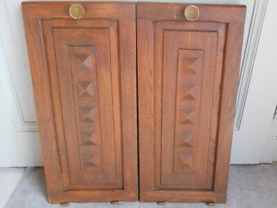 Pair of French Antique OAKWOOD CABINET DOORS furniture