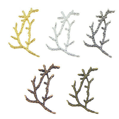 10pcs Vintage Style Mixed Color Tree Branch Charms Pendant Jewelry Crafts 52220