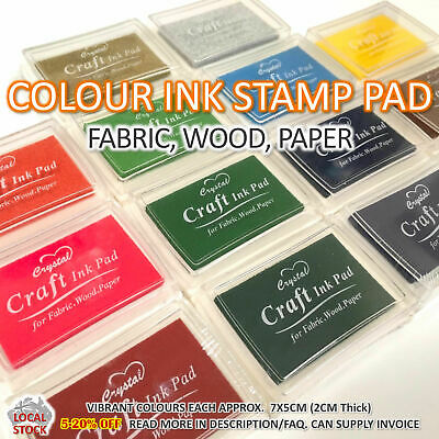 Colour Ink Pad Craft Stamp Carving Pads DIY Scrapbooking Crafts Gift Supplies