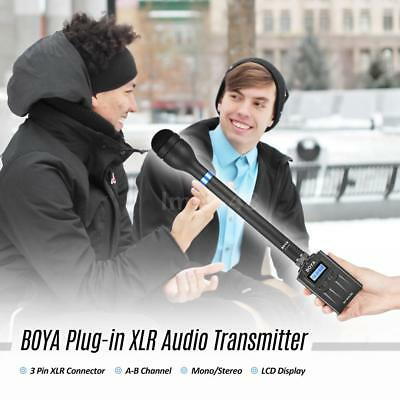 BOYA BY-WXLR8 Plug-on Transmitter with LCD Display for BY-WM8 BY-WM6 P8G3