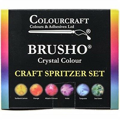 Brusho By Colourcraft Brusho Crystal Set 6 Color Craft Spritzer Colour - Colours