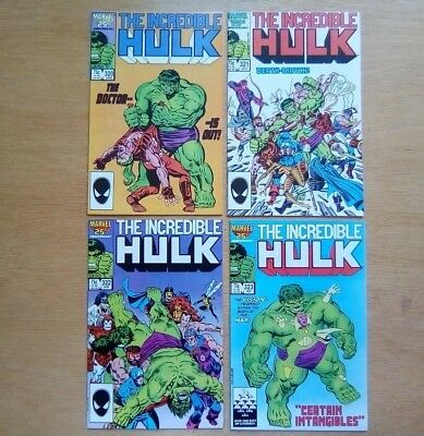 Incredible Hulk 4 Issues #320,321,322,323 Marvel Comics 1986 All Very Fine