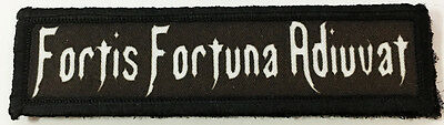 1x4 Fortis Fortuna Adiuvat Morale Patch Tactical Military Army Flag USA Wick