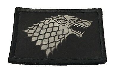 Game of Thrones House Stark Sigil  Morale Patch Tactical Military Army Badge