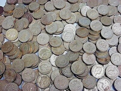 3lb. Lot of British Circulated One Pound Coins (OLD ROUND POUND)