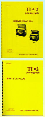 Rowe TI1 & TI 2 Jukebox Service & Parts Manuals AMR