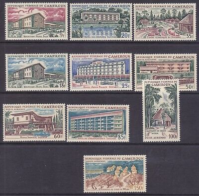 Cameroun 432-34 & C63-69 1966 MNH Hotels and Scenic Views Full 10 Stamp Set VF