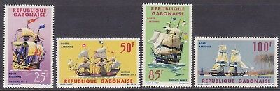 Gabon C30-33 MNH 1965 Early Ship Types Full Set Very Fine
