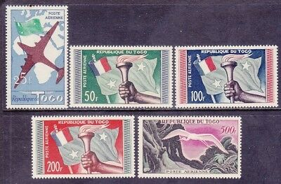 Togo C26-30 MNH 1959 Plane Flag & Torch - Great White Egret Airmail Set of 5 VF