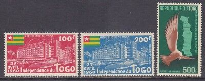 Togo C31-33 MNH 1960 Proclamation of Togo's Full Independence Airmail Set VF