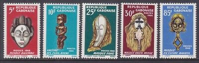 Gabon 188-92 MNH 1966 International Negro Arts Festival at Dakar Senegal Set