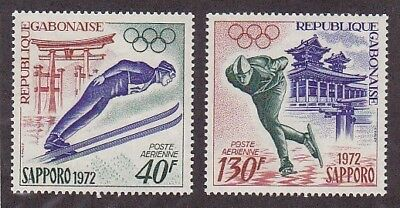 Gabon C121-22 MNH 1972 11th Winter Olympic Games at Sapporo Japan Set