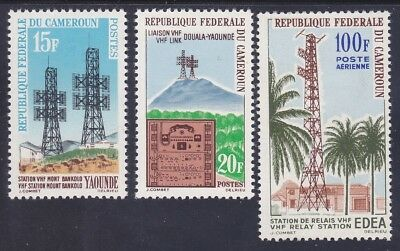 Cameroun 384-86 & C46 MNH High Frequency Transmission Station Set w/Airmail VF