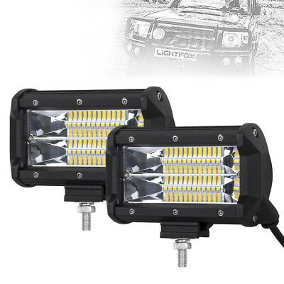 "2x 5""INCH 144W LED Work Light Bar Flood Pods Driving OffRoad Tractor 4WD ATV 12V"