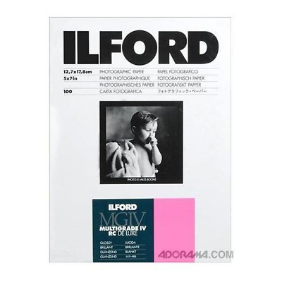 Ilford Multigrade IV RC Deluxe MGD.1M Black and White Variable Contrast Paper 5