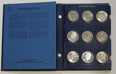 COMPLETE 1971-1978 EISENHOWER Ike Dollar set w/ proofs in Whitman CLASSIC Album