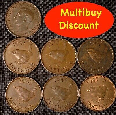 Farthing George VI 1937 - 1952  Choose Your Date
