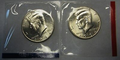 1994-P and 1994-D Gem BU Kennedy Half Dollars in Original Mint Cello Packs