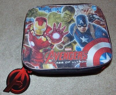 ~NWT Boys MARVEL AVENGERS Age Of Ultron Lunch Box/Pail Nice FS:)~