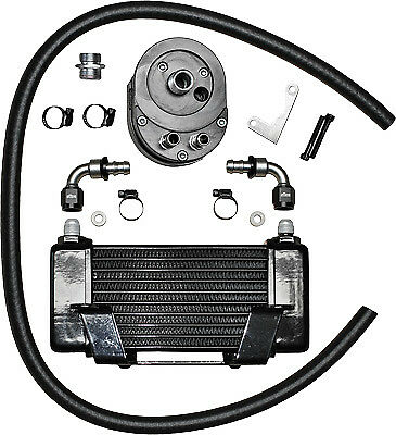 Jagg Oil Coolers Horizontal 10 Row Oil Cooler 750-2400 Black