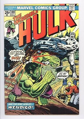 Incredible Hulk #180 Vol 1 Near Perfect High Grade 1st App of Wolverine In Cameo