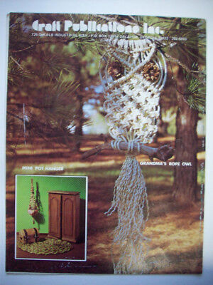 Macrame for Enthusiasts plant pot wall hangings holders pattern OWL