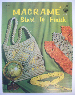Macrame Start to finishe jewerly bags purses belts  pattern