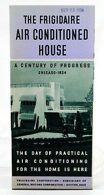 Frigidaire Air Conditioned House 1934, Advertising, Century of Progress Brochure