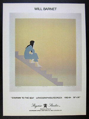 1984 Will Barnet Stairway to the Sea lithograph offer Styria vintage print Ad