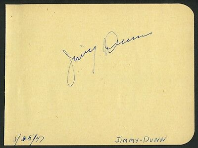 James Dunn (d. 1967) signed autograph 4x5 Album Page A Tree Grows in Brooklyn