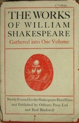 THE WORKS OF WILLIAM SHAKESPEARE; GATHERED INTO ONE VOLUME, ODHAMS, Very Good Bo