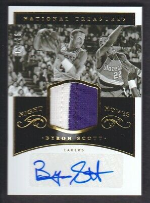 734807ad12f 2014-15 National Treasures Night Moves Patch Auto #BS Byron Scott 02/25