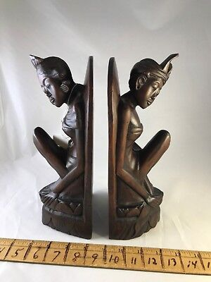 antique vintage asian oriental wood wooden carved carving naughty nice girl book