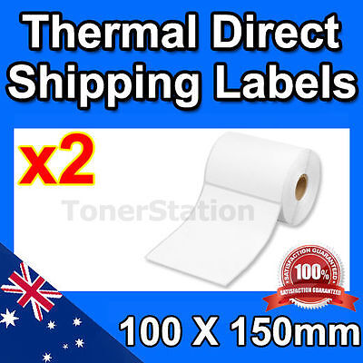 2x 100X150mm Direct Thermal Label Roll 4x6 for Fastway Startrack AusPOST eParcel